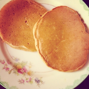 homemade pumpkin pancakes